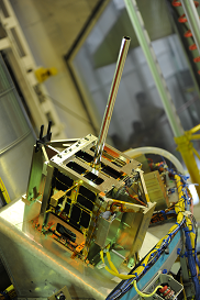 AISSat-1 inside XPOD15G mounted on PSLV-C15