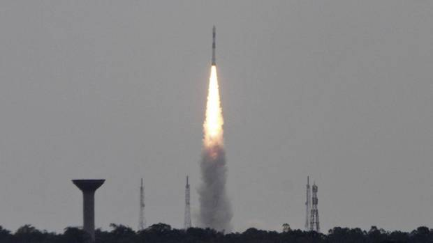 India's Polar Satellite Launch Vehicle (PSLV-C23), carrying five satellites, lifts off from the Satish Dhawan Space Centre in Sriharikota, north of the southern Indian city of Chennai June 30, 2014. (BABU/REUTERS)