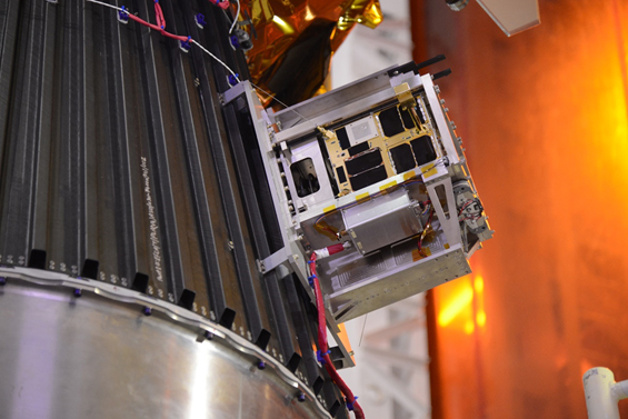 Figure 4: CanX-5 Assembled on the PSLV Payload Launch Adapter