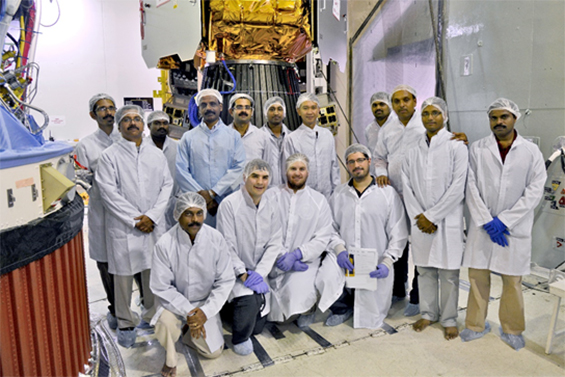 Figure 2: ISRO and SFL Integration Teams following mating of CanX-4 and CanX-5